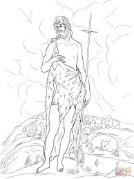 saint john the baptist in the wilderness coloring page free