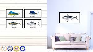 Dolphin Home Decor Albacore Tuna Fish Home Decor Wall Art Nautical Beach Fisherman