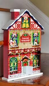 lighted santa s workshop advent calendar the 24 days before christmas german advent calendar schwibbogen