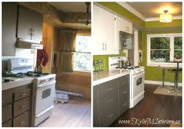 painting cabinets white before and after painted kitchen cabinets ideas before and after www