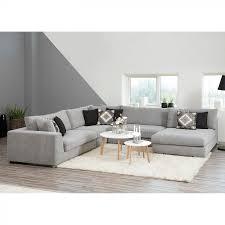 Moderne Wohnzimmer Wandfarben Wohnlandschaft Planeta Microfaser Grau Wohnzimmer