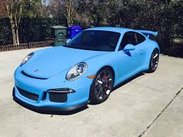porsche blue gt3 2015 991 gt3 mexico blue wrap rennlist porsche discussion forums