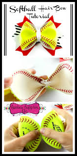 softball hair bows how to make a softball hair bow with real softball