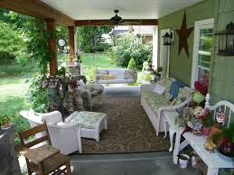 exterior colonial front porch design with grey siding wall and