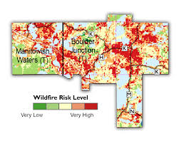 Colorado Wildfire Risk Map by Cwpp And Fire Prevention Town Of Boulder Junction Vilas County