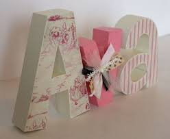 pink wooden letters for nursery thenurseries