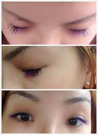 before and after eyelash extensions a month follow up