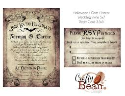 custom vintage victorian halloween goth wedding invitation u0026