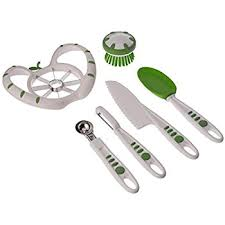 amazon com plastic kitchen knife set 3 pieces and 3 colors for