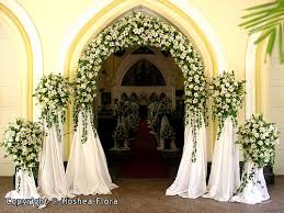 Church Decorations Church Decorations For Weddings From Hoshea Flora Sri Weddings Topic