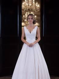 becky dress and stunning a line wedding gown with v neckline lace