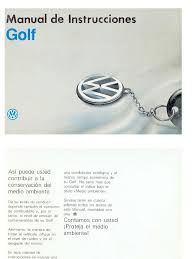 manual de usuario vw golf mk3