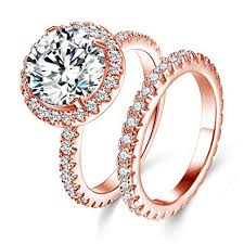 big stone rings images Jiangyue lady rings aaa cubic zirconia rose gold jpg