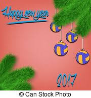 vector clipart of volleyball christmas ornaments volleyball