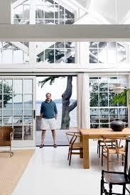 a classical designer u0027s modern house in maine mr schafer stands