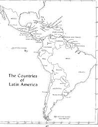 South America Map Capitals by Free Blank Map Of North And South America Latin America Psci 3810