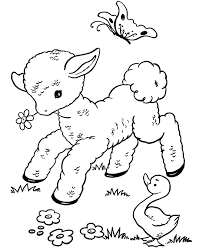 bluebonkers free printable easter lamb coloring sheets 11