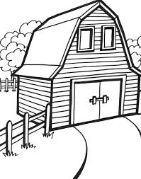 free coloring pages barn 18688 bestofcoloring com