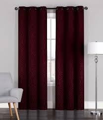 Eclipse Thermalayer Curtains by Pair Of Adelaide Crinkled Window Curtain Panels W Grommets 96