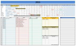 Excel Spreadsheet Calendar Template