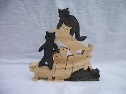 free images to make wooden cats wooden jigsaw puzzle stacked