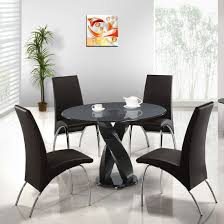 Interesting  Chair Dining Sets Chairs Urban Glass Table And Four - 4 chair dining table designs
