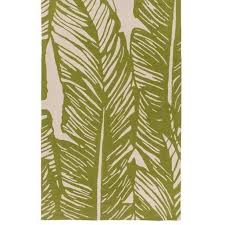 Green Outdoor Rugs Banana Leaf Olive Green Outdoor Rug Shop Tropical Home Decor