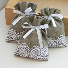 linen favor bags ivory favor sachets linen burlap with lace wedding favor bags set