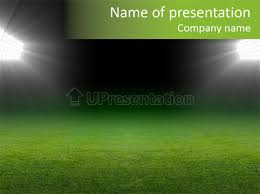 field soccer stadium background powerpoint template id 0000025683