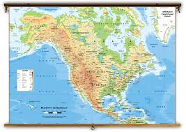 Geographical Map Of South America by North America Physical Classroom Map From Academia Maps