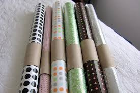 storage of wrapping paper baking diy