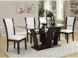 Casual Dining Rooms Acme Furniture Malik Contemporary Casual Dining Table W Glass Top