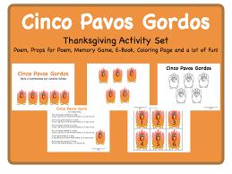 cinco pavos gordos a thanksgiving poem for teachers