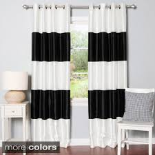 Blackout Curtains Grommet Exclusive Fabrics Awning Black White Stripe Grommet Blackout