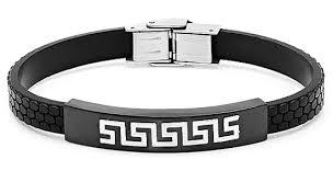 man rubber bracelet images Men 39 s stainless steel rubber bracelets jpg