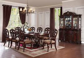 standard furniture woodmont 7 piece leg dining room set in cherry