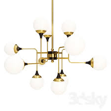 Stilnovo Chandelier 3d Models Ceiling Light Stilnovo Style Italian Chandelier