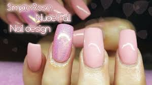 pink fall nail design gel polish simple nail design youtube