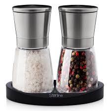 amazon com sterline premium salt and pepper grinder shaker set