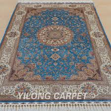 Persian Rug Mouse Mat by Aliexpress Com Buy Yilong 6 U0027x9 U0027 Kashmir Qum Carpet Vantage Blue