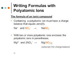1 9 1 polyatomic ions chapter 9 chemical names and formulas ppt