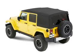 jeep black 4 door bestop 54823 17 supertop nx twill soft top with tinted windows