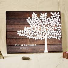 rustic wedding guest books rustic wedding guest book fingerprint tree guestbook canvas