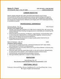 6 entry level resume objective example cote divoire tennis