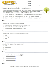 lines rays and line segments worksheets identifying lines rays and line segments worksheet turtle diary