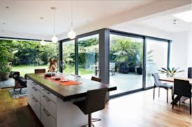 glass extension kitchen space interior design ideas