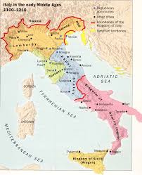 Late Medieval Europe Map by Formation Of Italy