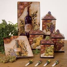 grape kitchen canisters ceramic tableware