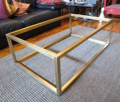 table coffee modern custom metal u2013 modern coffee table base by andrew stansell design
