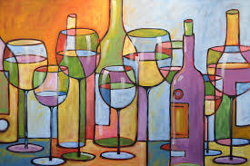 painting for kitchen abstract wine dining room bar kitchen art time to relax